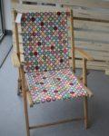 Chaise pliante - tissus à pois