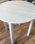 table ronde blanche en bois